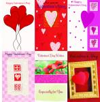 *120 General Valentine cards assorted