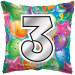 #3 Mylar Balloon ( 6 pack)