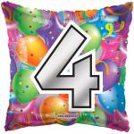 #4 Mylar Balloon ( 6 pack)