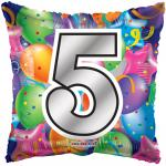 #5 Mylar Balloon ( 6 pack)