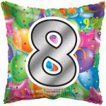 #8 Mylar Balloon ( 6 pack)