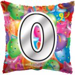 #0 Mylar Balloon ( 6 pack)