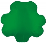 Green Shamrock Mylar Balloon (6 pack)