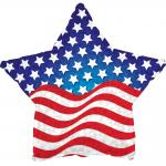 Patriotic Prismatic Star Mylar Balloon (6 pack)