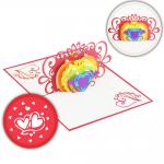 Rainbow Love 3D Pop Up Card