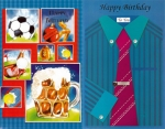 Wrapped Masculine Birthday Card 24 Pack