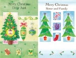 Wrapped Christmas cards - all relatives