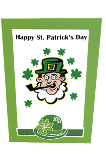 Wrapped St. Patrick's Day card (Dozen)